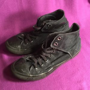 Converse Shoes - Converse all black Velcro sneakers